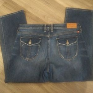 Lucky brand cropped blue jeans size 14